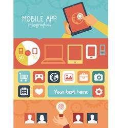 mobile app development infographics vector image vector image