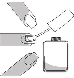 nail polish manicure icon image vector image