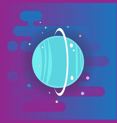 Neptune icon - flat space elements vector