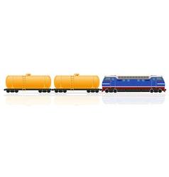railway train 17 vector image vector image