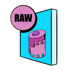Raw file icon cartoon vector