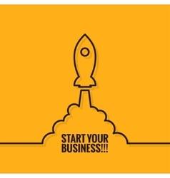 Rocket Launch Logo Business Start Background vector image