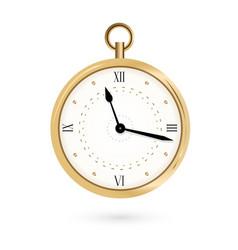round pocket watch vector image