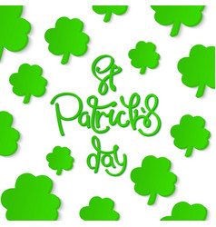 Saint patricks day background vector