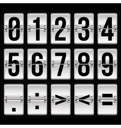 silver timetable numbers vector image vector image