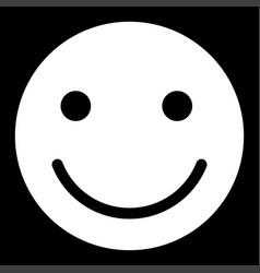 smile icon vector image vector image