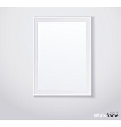 Stylish white photoframe vector image vector image