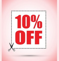 Ten percent off voucher vector