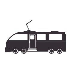 Train rail transport vehicle vector