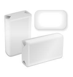 White blank foil or paper box soap vector