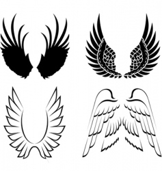 wings elements for design illustration vector image