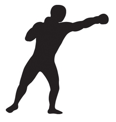 Left jab outline vector