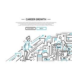 Career Growth line flat design website banner vector image