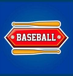 Baseball players community emblem with bats and vector