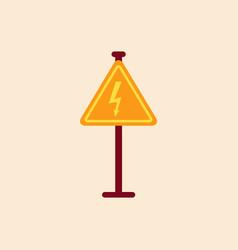 Danger high voltage road sign vector