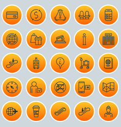 Transportation icons set collection of resort vector