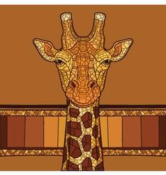 Decorative giraffe head vector
