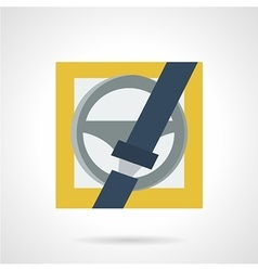 Driver protection flat icon vector