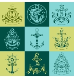 It is labels with the image of anchors vector image
