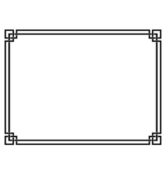 Roman style black ornamental decorative frame vector