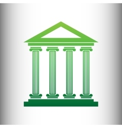 Historical building green gradient icon vector