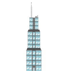 Sears tower icon vector