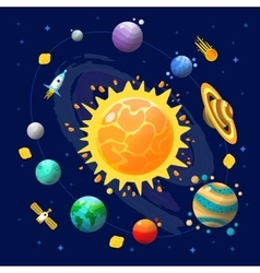 Space universe composition vector