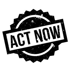 Act now rubber stamp vector