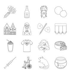 Algae sports city and other web icon in outline vector