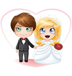 Bride and Groom Getting Married vector image