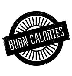 Burn calories stamp vector
