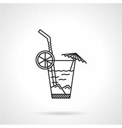 Cocktail black line icon vector