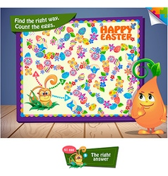Count the Easter eggs vector image