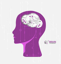 creative brain concept background artificial vector image