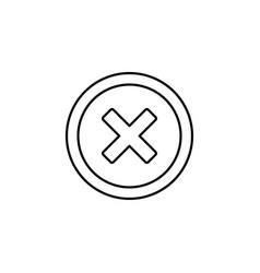 cross road icon vector image vector image