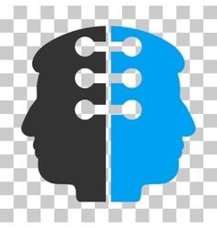 Dual head interface icon vector