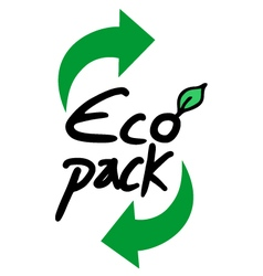 Eco pack recycle vector image
