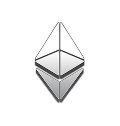 Ethereum coin trendy 3d style icon vector
