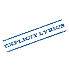 Explicit lyrics watermark stamp vector