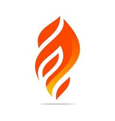 Flame fire design luxury logo design vector
