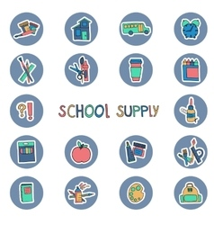 Hand drawn school supply icons knowledge science vector