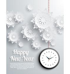 Happy New Year snowflakes vector image