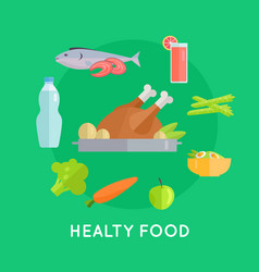 healthy food conceptual vector image
