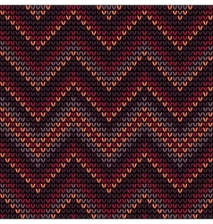 Knitted seamless pattern with colored frills vector