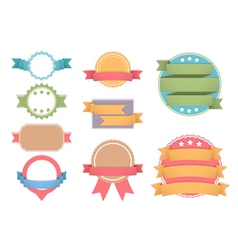 Labels with Ribbons vector image vector image