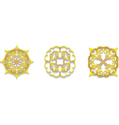Lace gold symbols vector