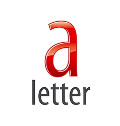 Logo red letter a with highlights vector