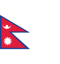 nepal flag for independence day and infographic vector image
