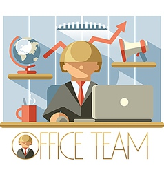 Office Team Director vector image vector image