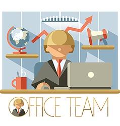 Office team director vector